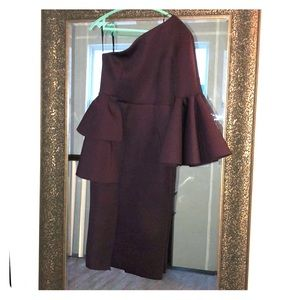 Plum dress perfect for wedding